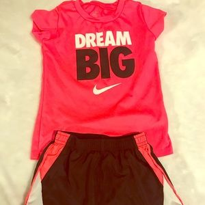 Toddler girl Nike top and shorts